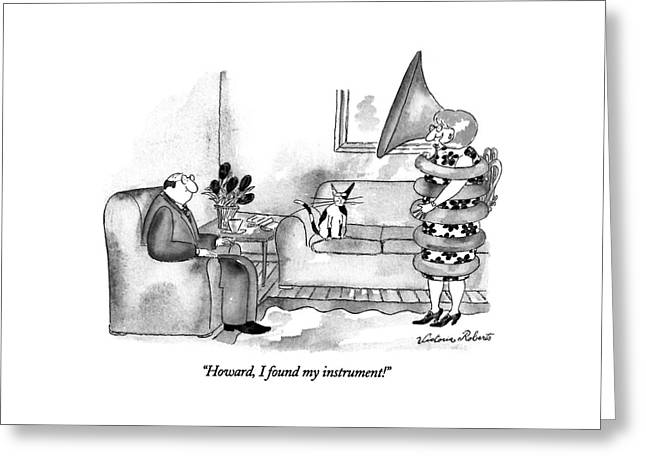 Howard, I Found My Instrument! Greeting Card