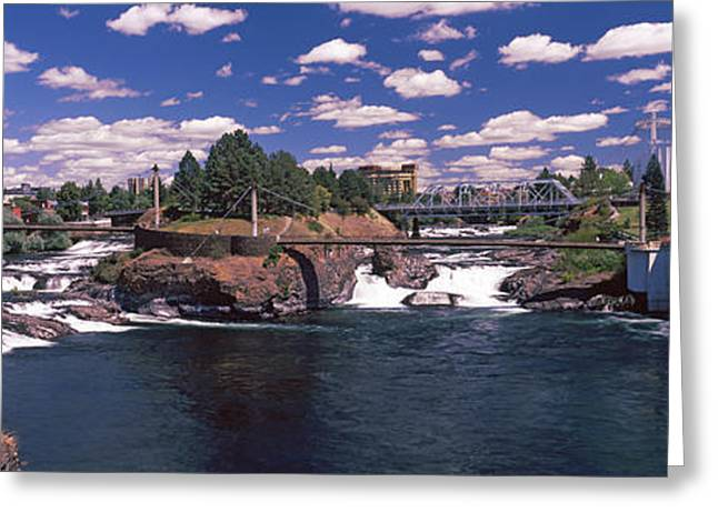 Howard Street Bridge Over Spokane Greeting Card