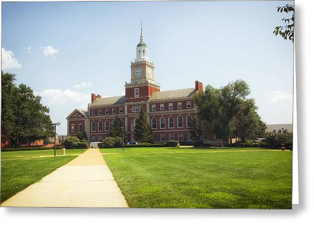 Howard University Campus Greeting Card by Mountain Dreams