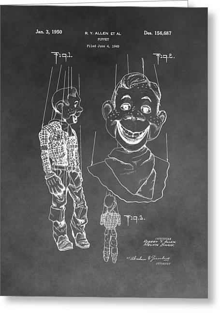 Howdy Doody Patent Greeting Card