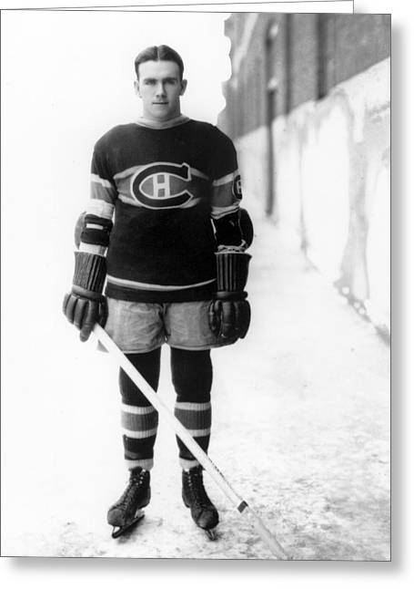 Howie Morenz Poster Greeting Card by Gianfranco Weiss