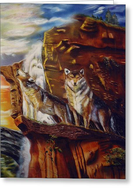 Howling For The Nightlife  Greeting Card