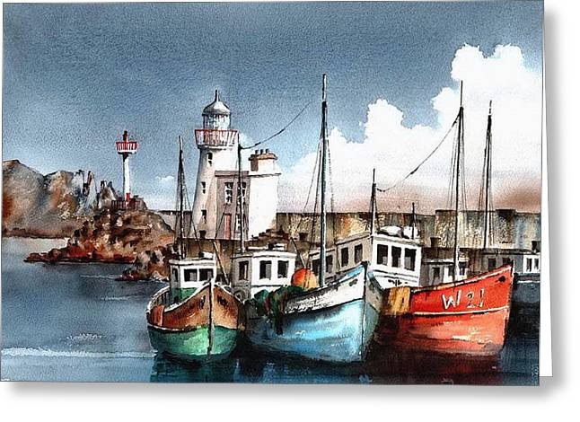 Howth Trawlers Greeting Card