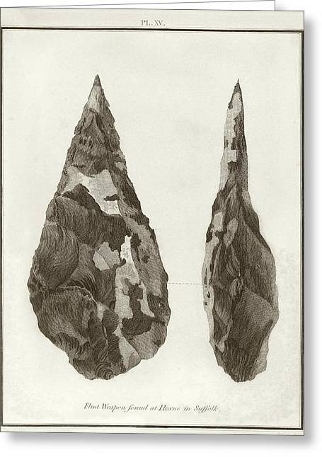Hoxne Handaxe Greeting Card