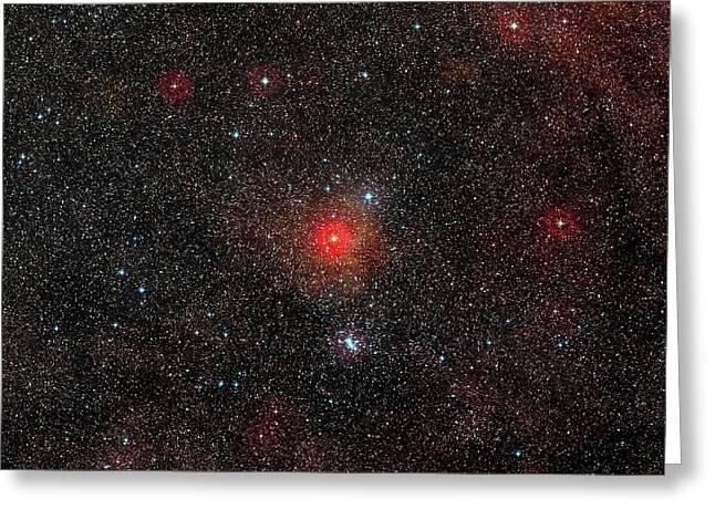 Hr 5171 Star Greeting Card by Eso/digitized Sky Survey 2