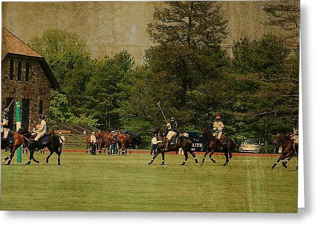 Hrh Prince Harry And Greenwich Polo Club Greeting Card