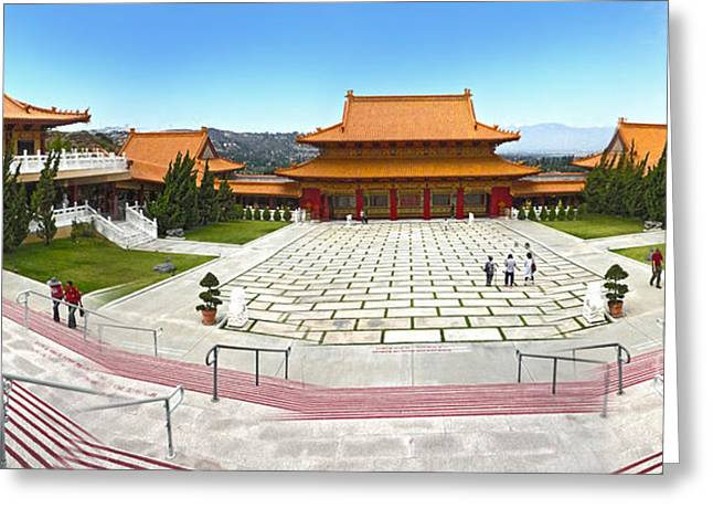 Hsi Lai Temple - 07 Greeting Card by Gregory Dyer