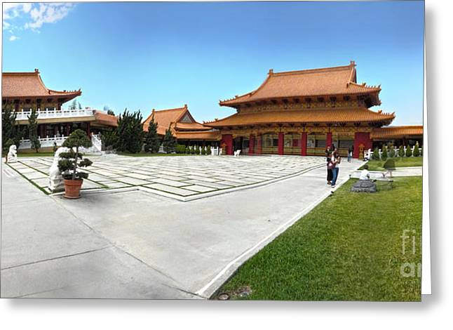 Hsi Lai Temple - 08 Greeting Card by Gregory Dyer