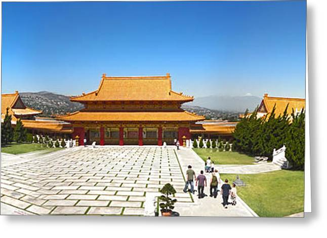 Hsi Lai Temple - 09 Greeting Card by Gregory Dyer