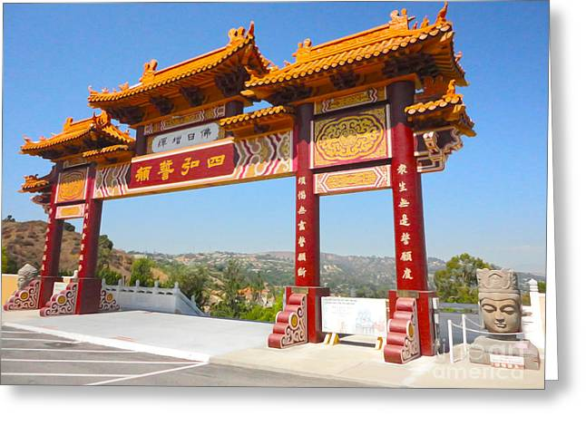 Hsi Lai Temple - 10 Greeting Card by Gregory Dyer