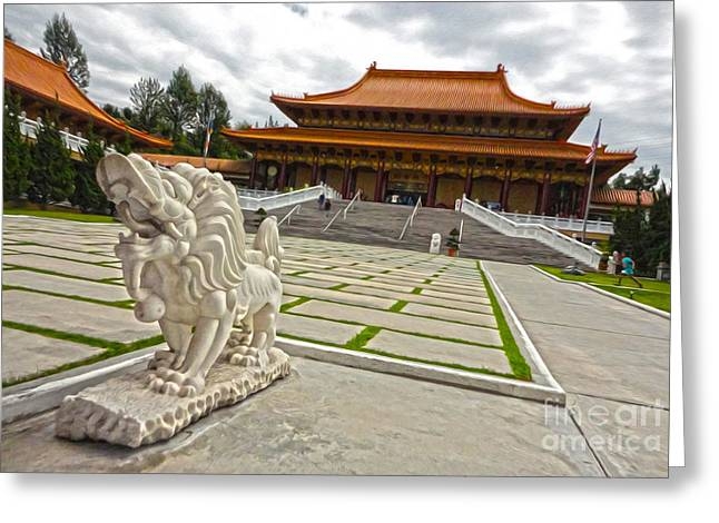 Hsi Lai Temple - 05 Greeting Card by Gregory Dyer