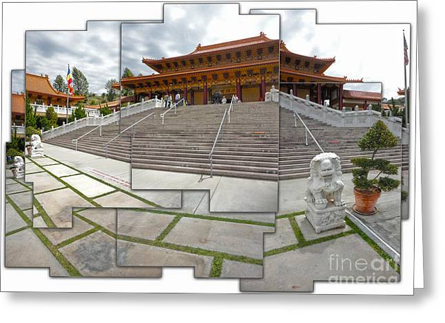 Hsi Lai Temple - 06 Greeting Card by Gregory Dyer