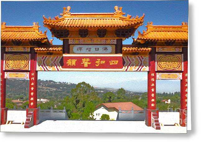 Hsi Lai Temple - 11 Greeting Card by Gregory Dyer