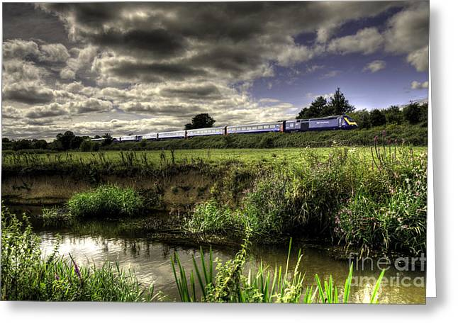 Hst In The Culm Valley  Greeting Card by Rob Hawkins