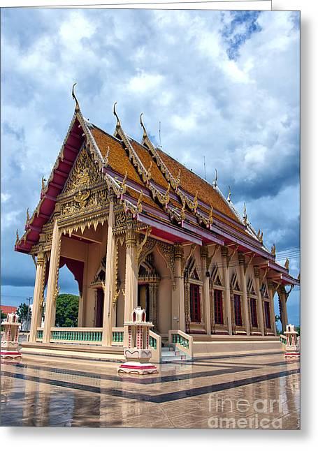 Hua Hin Temple 15 Greeting Card by Antony McAulay