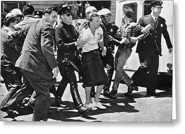 Huac Protesters Arrested In Sf Greeting Card