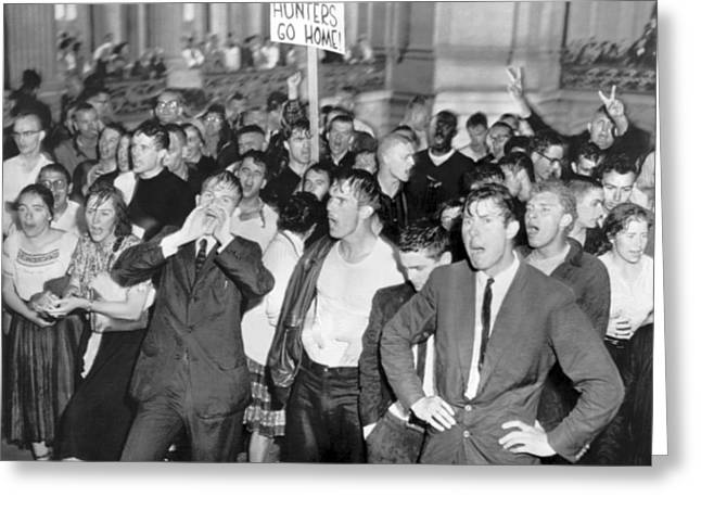 Huac Protests In San Francisco Greeting Card