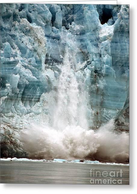 Hubbard Glacier 1986 Greeting Card