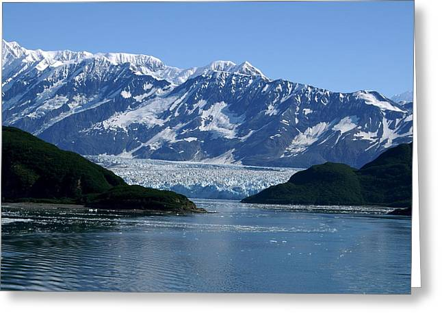 Hubbard Glacier Greeting Card by Barbara Stellwagen