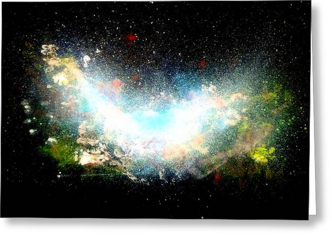 Hubble Birth Of A Galaxy Greeting Card
