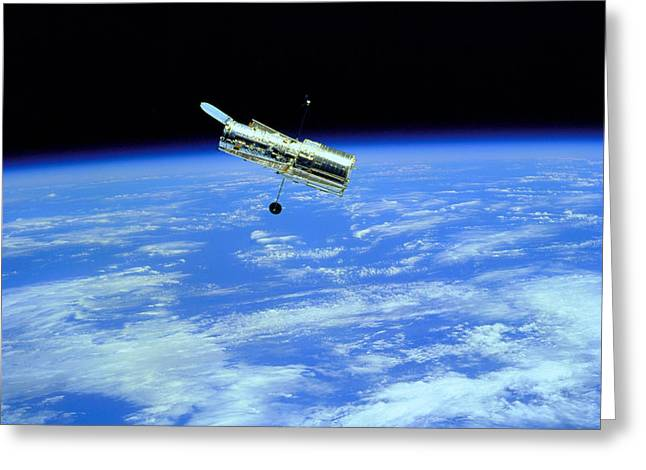 Hubble Space Telescope Greeting Card