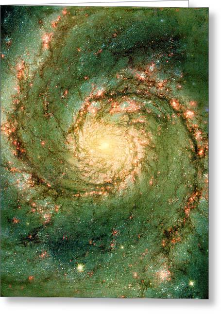 Hubble - The Heart Of The Whirlpool Galaxy Greeting Card by Paulette B Wright