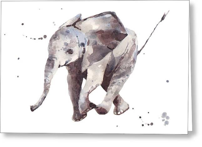 Hubert Hurry Elephant Greeting Card