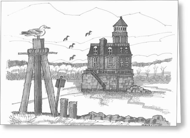Hudson-athens Lighthouse Greeting Card