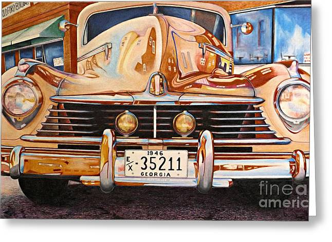 Hudson Has A Surrealistic Moment Greeting Card by David Neace