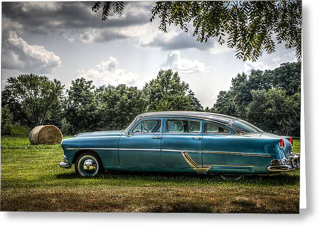Hudson Hornet Greeting Card by Ray Congrove