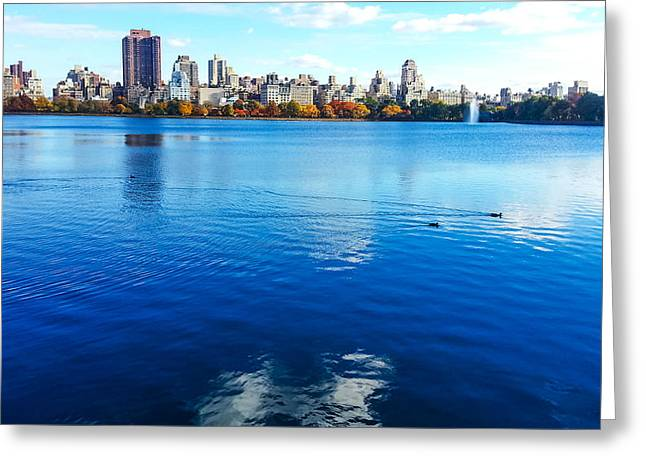 Hudson River Fall Landscape Greeting Card