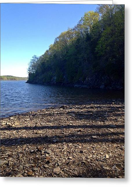 Hudson River Shoreline Greeting Card