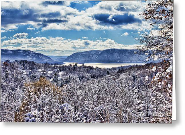 Hudson Valley First Snow Mystic Colors Greeting Card
