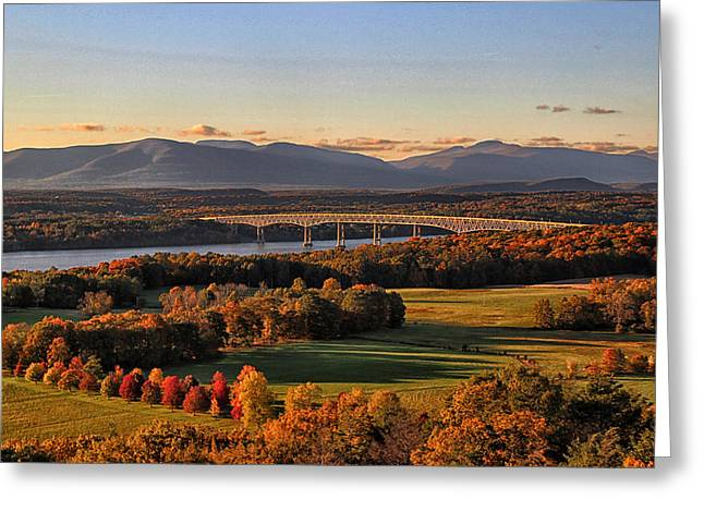 Hudson Valley In Autumn Greeting Card