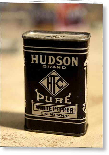 Hudson White Pepper Greeting Card by Marilyn Hunt