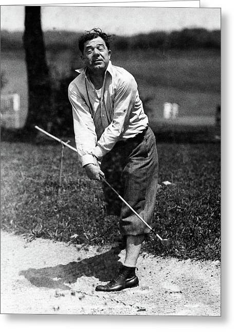 Huey P. Long Play Golf Greeting Card by Artist Unknown