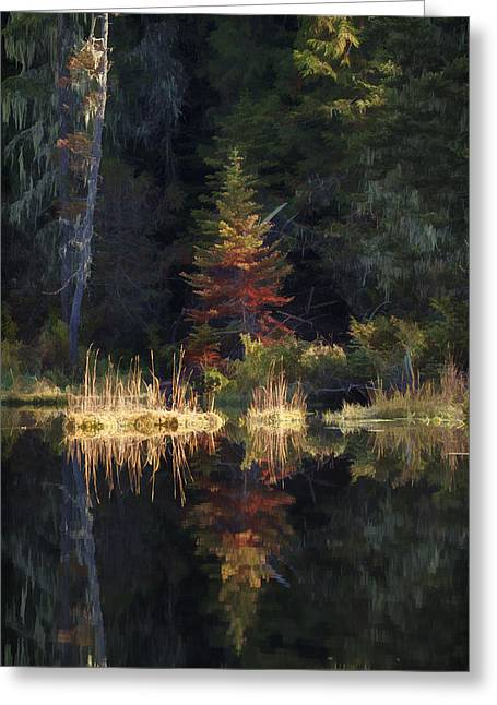 Huff Lake Reflection Greeting Card