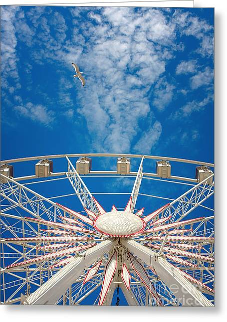 Huge Ferris Wheel Greeting Card