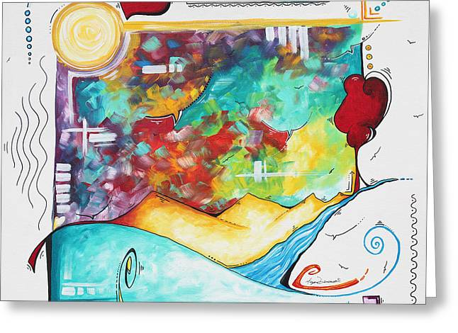 Huge Original Pop Art Style Painting Unique Fun Colorful Art By Megan Duncanson Greeting Card