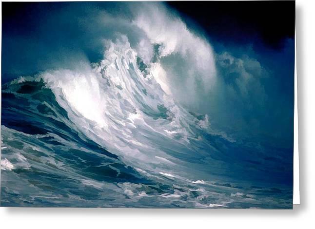 Huge Rogue Ocean Wave Greeting Card by Elaine Plesser