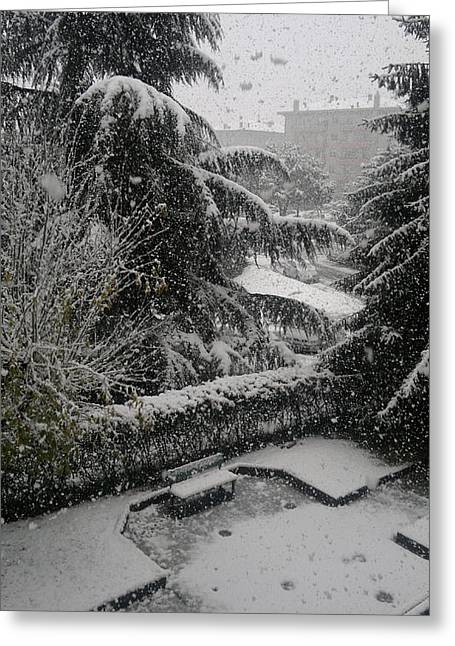 Huge Snowflakes Greeting Card by Giuseppe Epifani