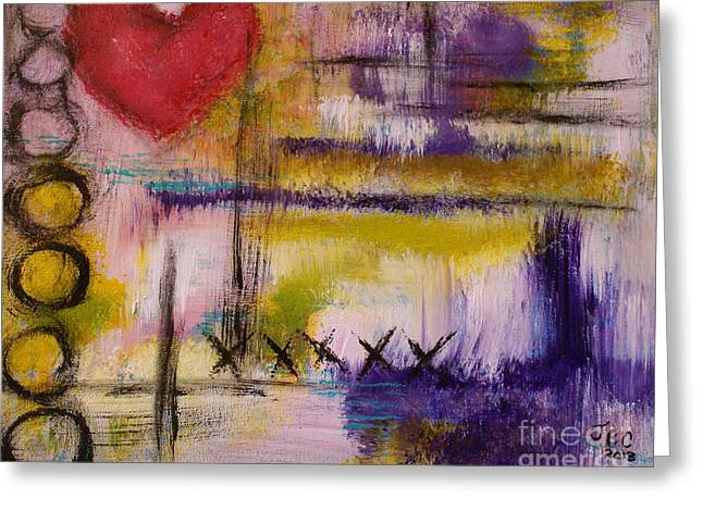 Hugs And Kisses Greeting Card by Jane Chesnut