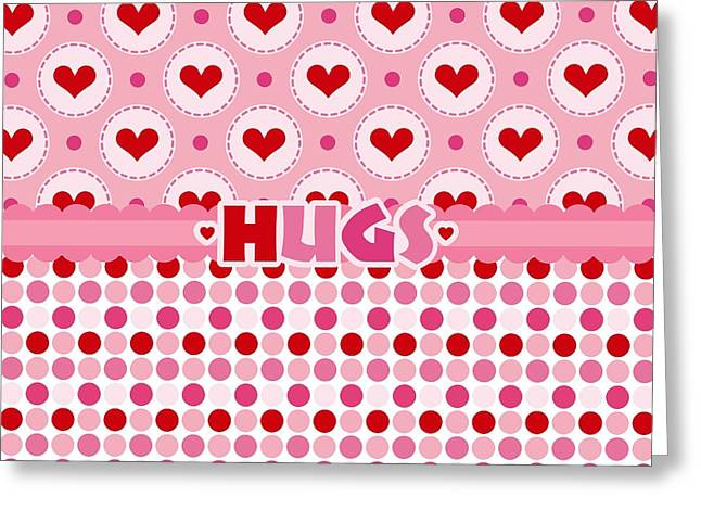 Hugs Greeting Card by Debra  Miller