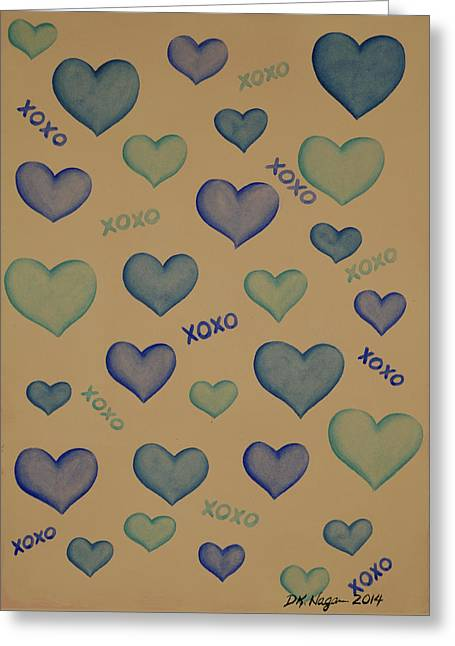 Hugs N Kisses Greeting Card