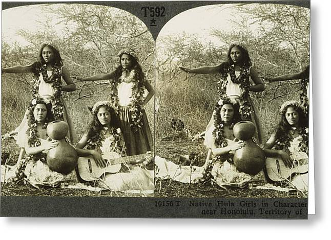 Hula Dancers, C1905 Greeting Card by Granger