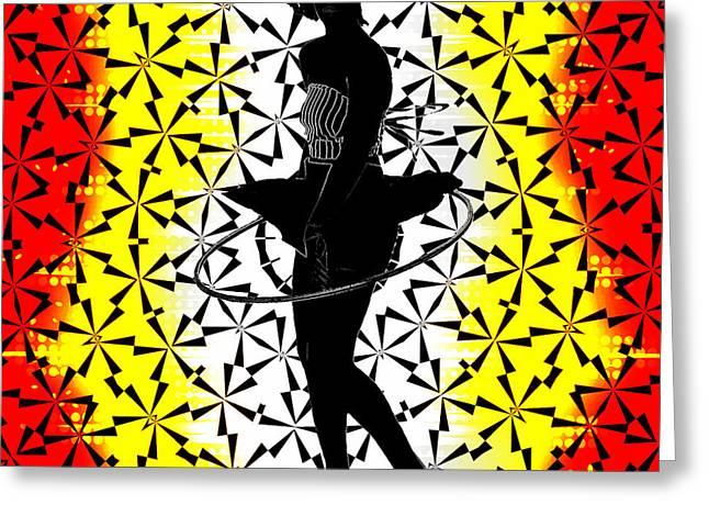 Hula Hoop Kaleidoscope Greeting Card by Amber Summerow