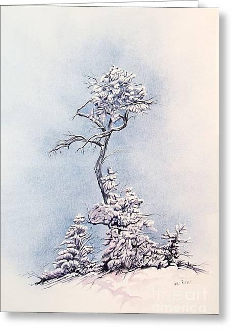 Hula Tree Greeting Card by Dan Riddle