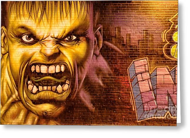 Hulk Graffiti In The Bronx New York City Greeting Card by Sabine Jacobs