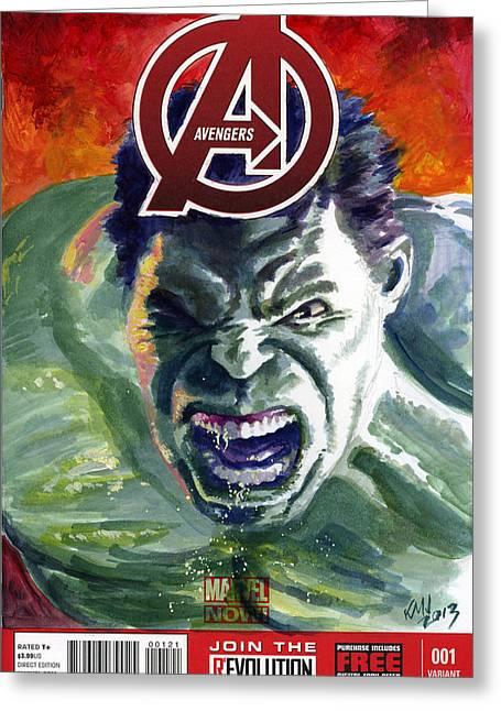 Hulk Greeting Card by Ken Meyer jr