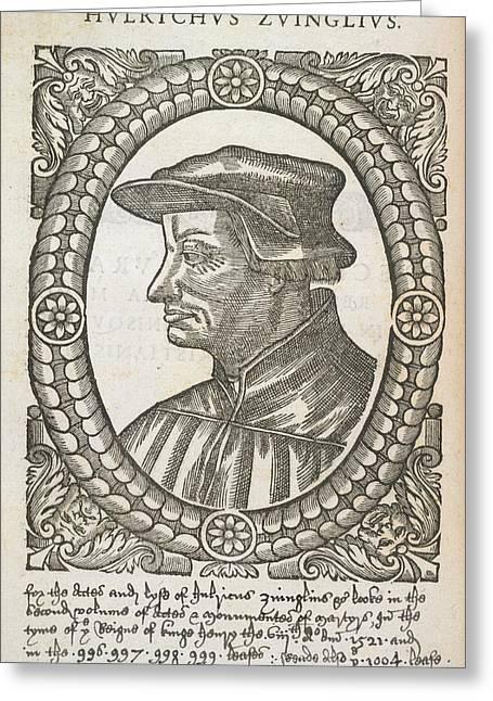 Hulrichus Zuinglius Greeting Card by British Library